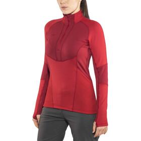 Bergans Roni Half-Zip Shirt Dame red/burgundy